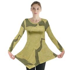 Stylish Gold Stone Long Sleeve Tunic