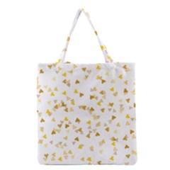 Gold Hearts Confetti Grocery Tote Bag