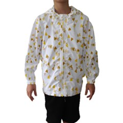 Gold Hearts Confetti Hooded Wind Breaker (Kids)