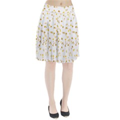 Gold Hearts Confetti Pleated Skirt