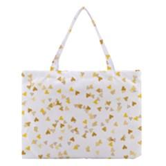 Gold Hearts Confetti Medium Tote Bag