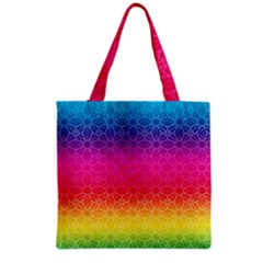 Rainbow Rings Grocery Tote Bag