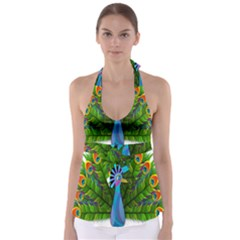 Peacock Peafowl Peachick Bird Babydoll Tankini Top