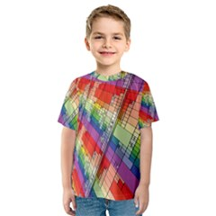 Perspective Background Color Kids  Sport Mesh Tee