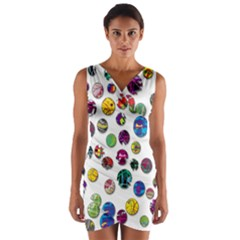 Play with me Wrap Front Bodycon Dress