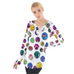 Play with me Women s Tie Up Tee