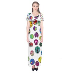 Play with me Short Sleeve Maxi Dress