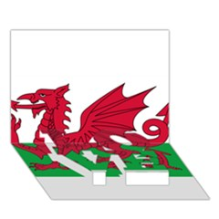 Flag Of Wales Love Bottom 3d Greeting Card (7x5)