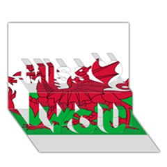 Flag Of Wales Miss You 3d Greeting Card (7x5)