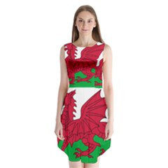 Flag Of Wales Sleeveless Chiffon Dress