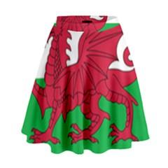 Flag Of Wales High Waist Skirt