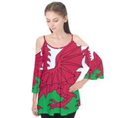 Flag Of Wales Flutter Tees