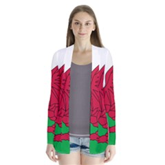Flag Of Wales Drape Collar Cardigan