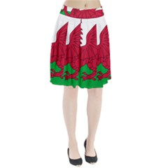 Flag Of Wales Pleated Skirt
