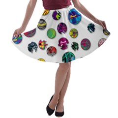 Play with me A-line Skater Skirt