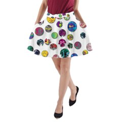 Play with me A-Line Pocket Skirt