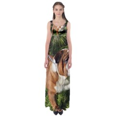 Bulldog Full Empire Waist Maxi Dress