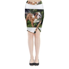 Bulldog Full Midi Wrap Pencil Skirt