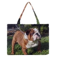Bulldog Full Medium Zipper Tote Bag