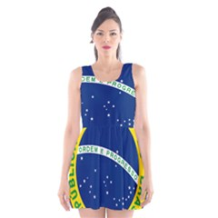National Seal of Brazil  Scoop Neck Skater Dress