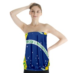 National Seal Of Brazil  Strapless Top