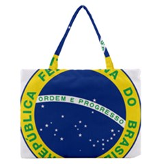 National Seal Of Brazil  Medium Zipper Tote Bag