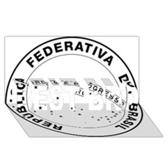 National Seal Of Brazil  Best Bro 3d Greeting Card (8x4)