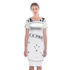 National Seal Of Brazil  Classic Short Sleeve Midi Dress