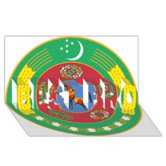 National Emblem Of Turkmenistan, 2000 2003 Best Bro 3d Greeting Card (8x4)