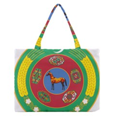 National Emblem of Turkmenistan, 2000-2003 Medium Zipper Tote Bag
