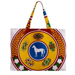 National Emblem Of Turkmenistan, 1992 2000 Medium Zipper Tote Bag