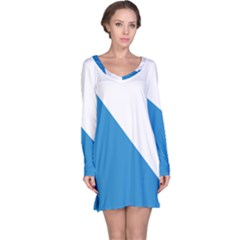 Flag of Canton of Zürich Long Sleeve Nightdress