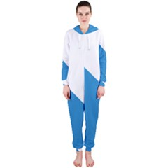 Flag of Canton of Zürich Hooded Jumpsuit (Ladies)