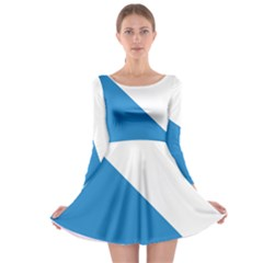 Flag of Canton of Zürich Long Sleeve Skater Dress