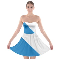 Flag of Canton of Z¨1rich Strapless Bra Top Dress