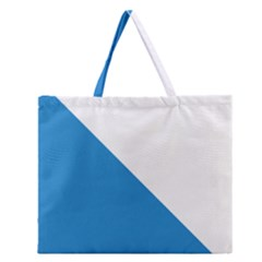 Flag of Canton of Zürich Zipper Large Tote Bag
