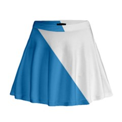 Flag Of Canton Of Zürich Mini Flare Skirt