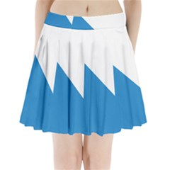 Flag of Canton of Zürich Pleated Mini Skirt