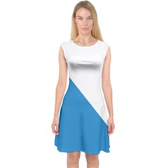 Flag of Canton of Zürich Capsleeve Midi Dress