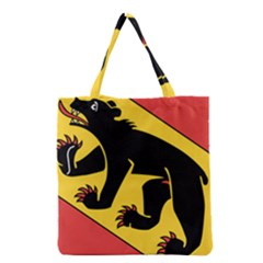 Flag of Canton of Bern Grocery Tote Bag