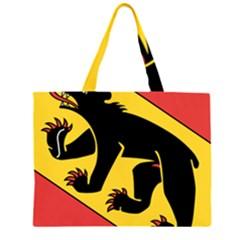 Flag of Canton of Bern Large Tote Bag