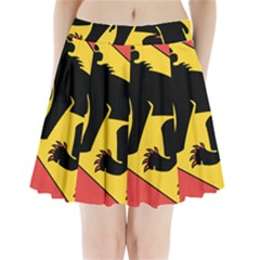 Flag Of Canton Of Bern Pleated Mini Skirt