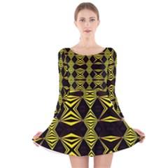 RAZZ Long Sleeve Velvet Skater Dress
