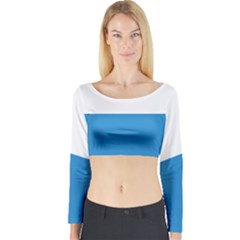 Flag of Canton of Lucerne Long Sleeve Crop Top