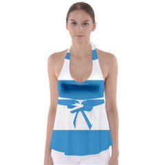Flag of Canton of Lucerne Babydoll Tankini Top