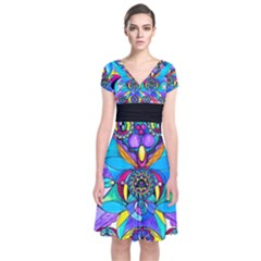 The Cure - Short Sleeve Front Wrap Dress