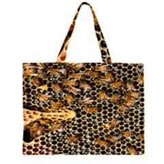 Queen Cup Honeycomb Honey Bee Large Tote Bag
