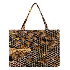 Queen Cup Honeycomb Honey Bee Medium Tote Bag