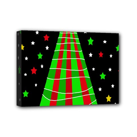 Xmas tree  Mini Canvas 7  x 5