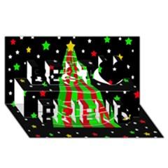 Xmas tree  Best Friends 3D Greeting Card (8x4)